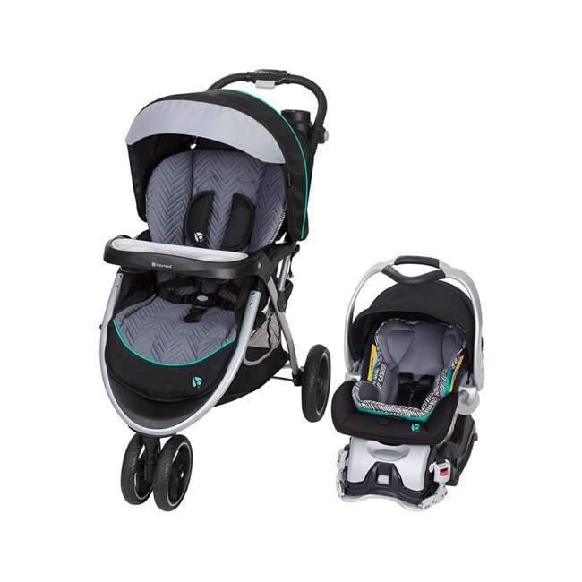 TS89B25B Baby Trend Skyview Plus Adjustable Stroller and Car Seat Travel System, Ziggy