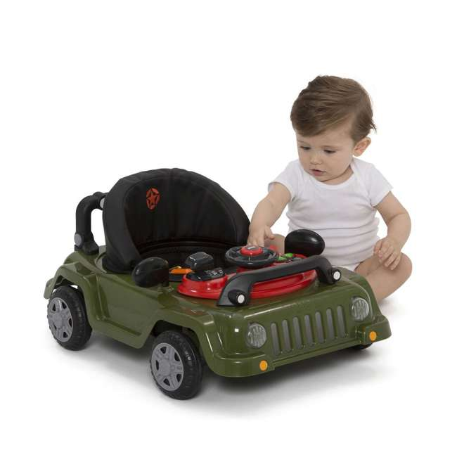 22408-348 Jeep Classic Wrangler 3 in 1 Activity Baby Walker & Toy Car, Anniversary Green 3