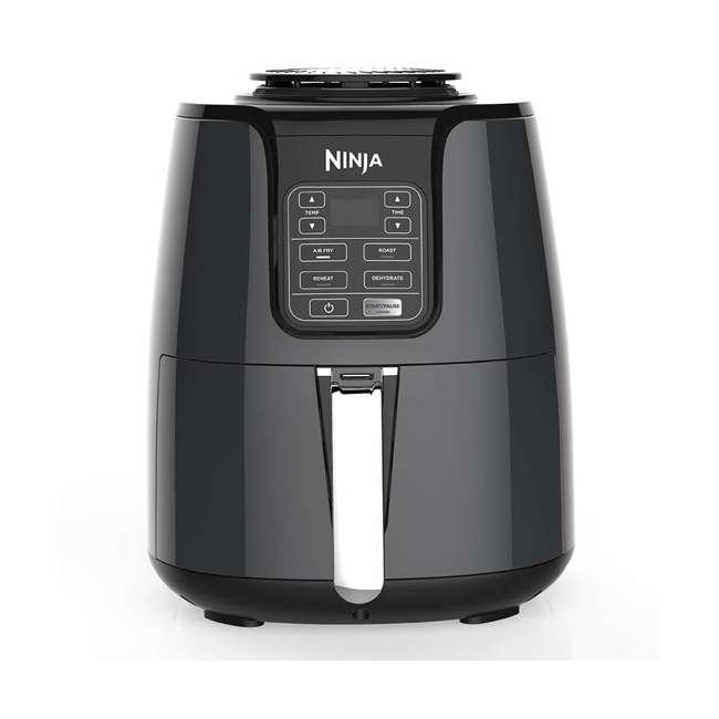 AF100_EGB-RB Ninja AF100 4 Quart Air Fryer Dehydrator 1550 Watt, Black (Certified Refurbished)
