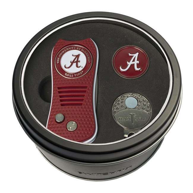 20157 Team Golf NCAA Alabama Crimson Tide Divot Tool & Ball Marker Tin Golf Gift Set