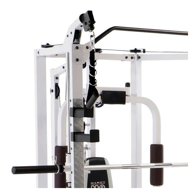 SM-5276 Marcy Combo Smith Strength Home Gym Machine, White 2