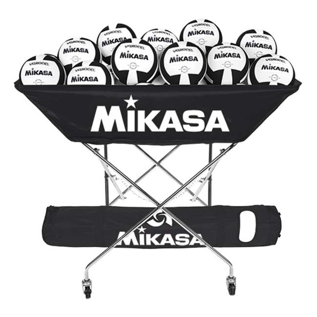 BCH-BLA Mikasa BCH Collapsible Hammock Volleyball 24 Ball Cart, Black