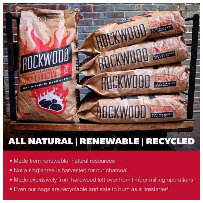 RW20 Rockwood All Natural Hardwood Grill or Smoker Lump Charcoal Mix, 20 Pound Bag 5