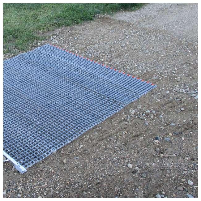 YARD-YTF-33HPDM-U-B Yard Tuff ATV/UTV 3' x 3' Zinc Plated Field Surface Leveling Drag Mat (Used) 1