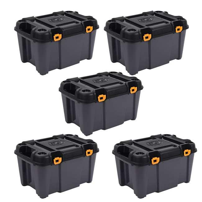 5 x FBA31730 Ezy Storage Bunker 80 Liter Heavy Duty Garage Storage Container Tub (5 Pack)