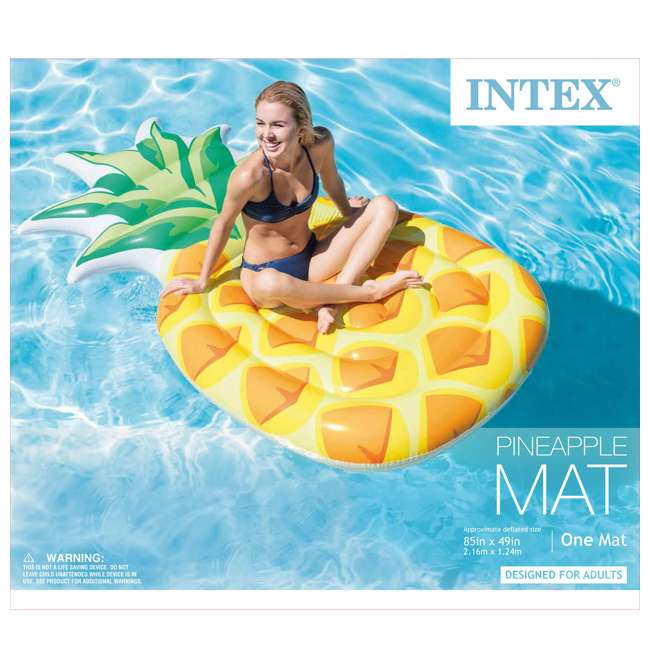 58761EP-U-B Intex 85 x 49 Inch Giant Inflatable One Person Pineapple Pool Float Mat (Used) 4
