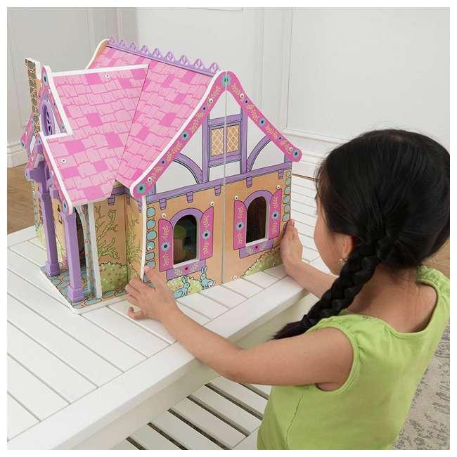 KDK-65930 KidKraft Enchanted Forest Wooden Dollhouse 4