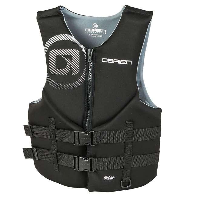 2181866-MW OBrien Biolite Traditional Men's Life Vest Size L, Black (2 Pack) 1