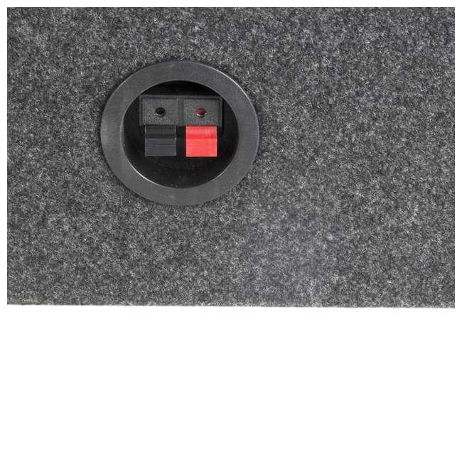 """TW12-SINGLE + 43C124 Q Power 12"""" Subwoofer Box Enclosure (2 Pack) & KICKER 12"""" Subwoofer 5"""