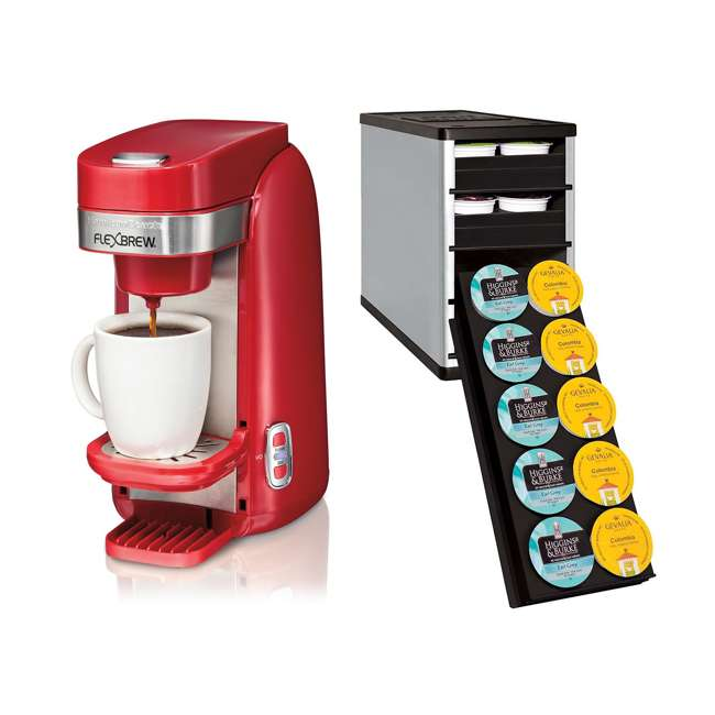 Coffee Maker On Clearance : Hamilton Beach FlexBrew Single Serve Coffee Maker w/ Organizer : 49960 + 4010202SLV