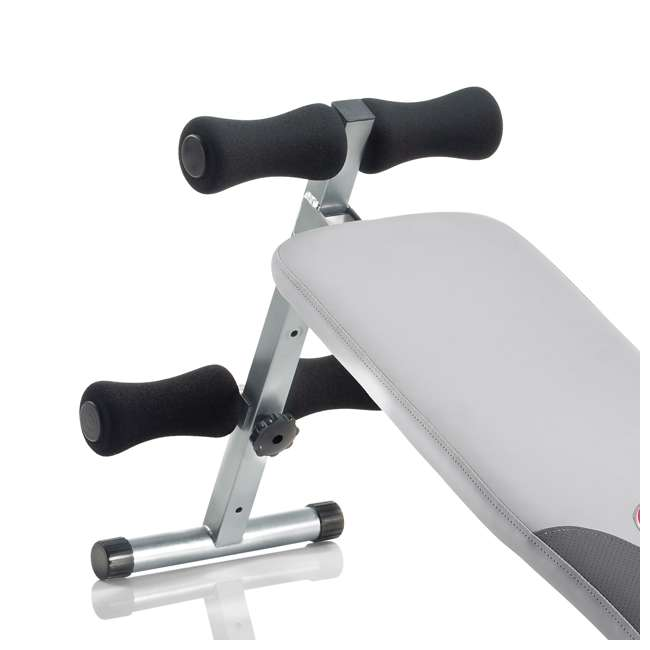 UNIVERSAL-003-9067 Universal UB100 Decline Exercise Fitness Bench with Dual Incline Positions, Gray 1