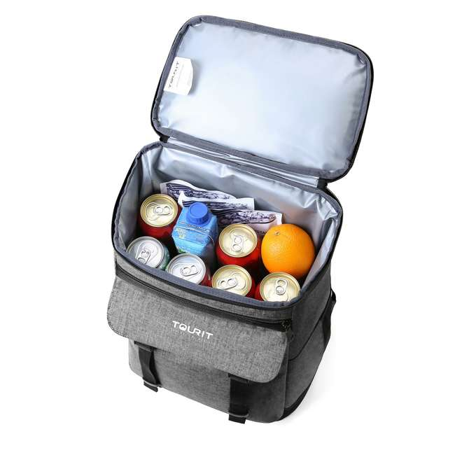 TR0260013A008 TOURIT TR0260008B001 Terns Insulated Leak-proof 21 Can Cooler Backpack, Gray 3