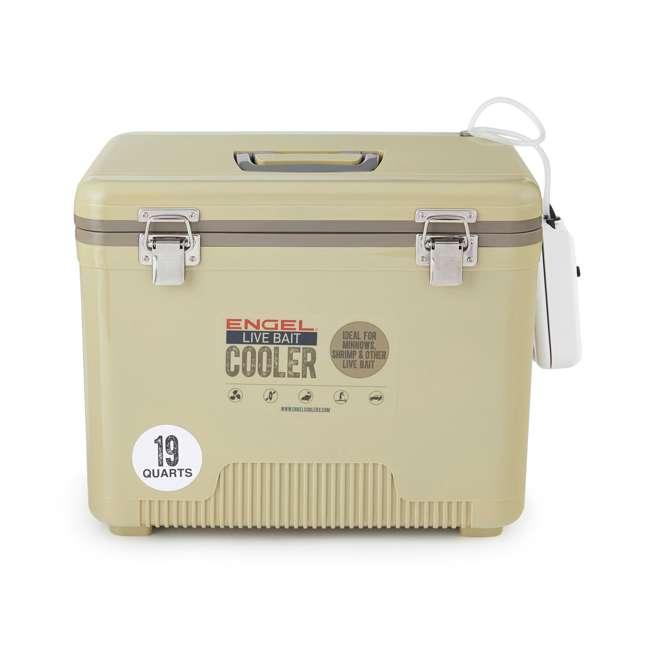 ENGLBC19-N-TAN Engel 19-Quart Hard-Sided Live Bait Fishing Dry Box Cooler, Tan 1