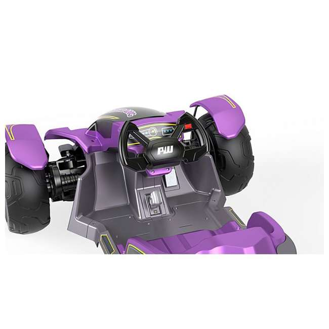 FLC34  Power Wheels Kids Electric Mini ATV Boomerang Ride-On , Purple 6