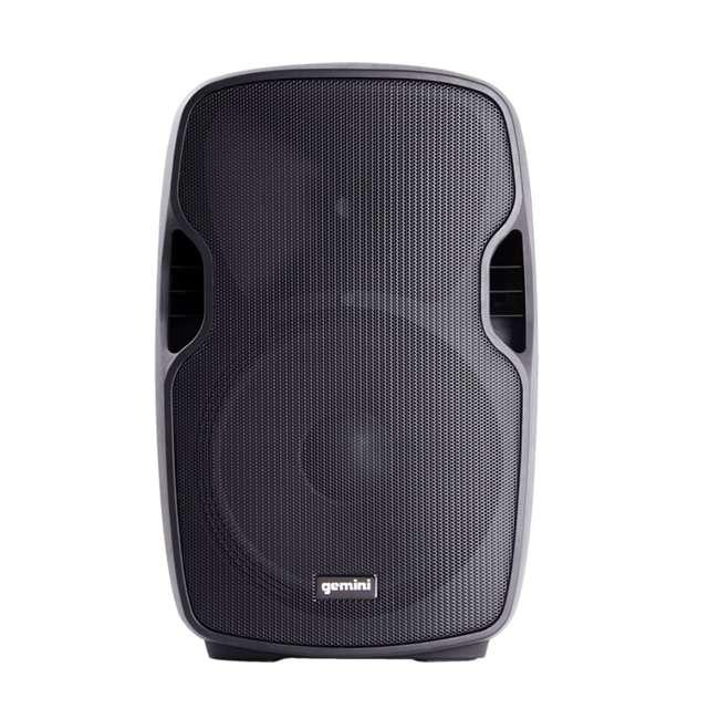 AS-15P Gemini Professional Portable 15 Inch Active Powered Loudspeaker Speaker (2 Pack) 2
