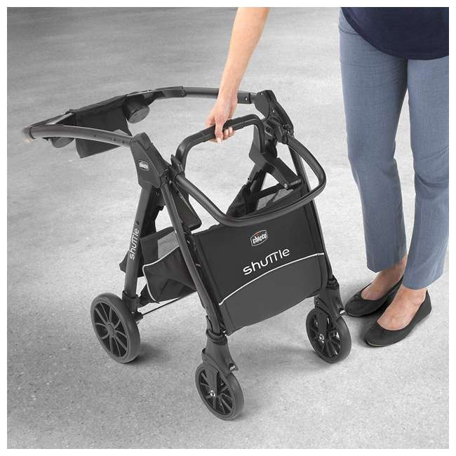 CHI-0607966295 Chicco Shuttle Frame Infant Stroller, Black 2