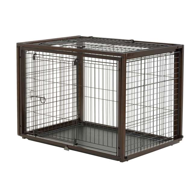 94925 Richell 94925 Flip to Play Medium Size 41 x 29.5 x 31.1 inch Wooden Pet Crate