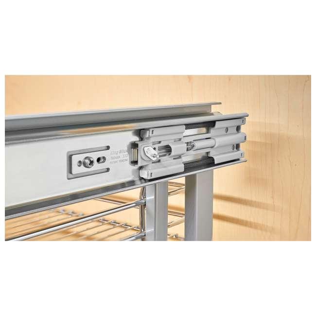 "5PSP-18SC-CR Rev A Shelf 5PSP-18SC-CR 18"" Durable Wire Bottom Blind Corner Cabinet Optimizer 2"