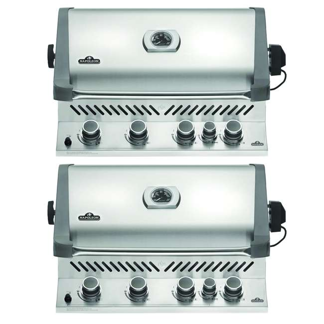 BIP500RBNSS-2 Napoleon 31'' Prestige 500 Built In Stainless Steel 4 Burner Gas Grill Head (2 Pack)