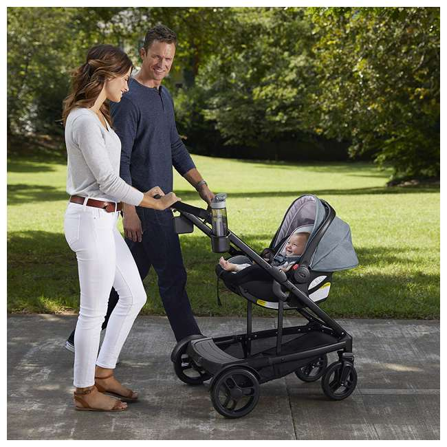 2032495 Graco UNO2DUO Baby Single Double Stroller & Infant Car Seat Travel System, Hazel 3