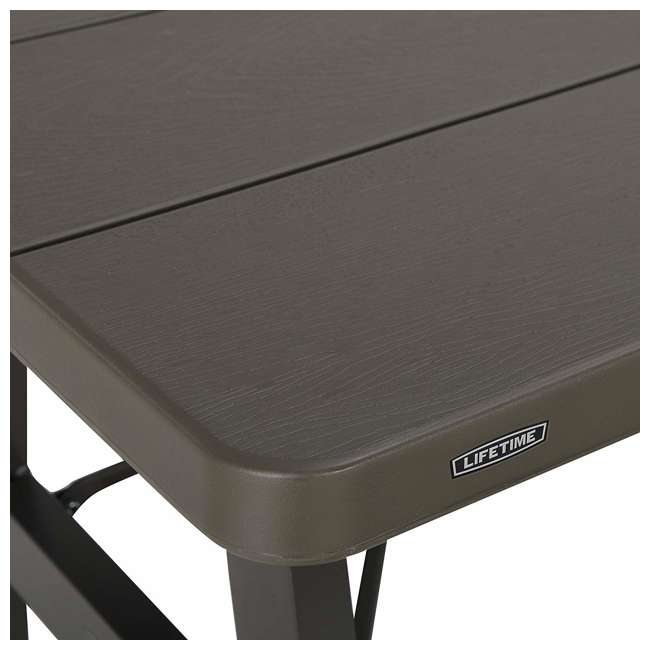 LIF-60233 Lifetime 60233 6-Foot W-Frame Outdoor Folding Picnic Table, Brown 4