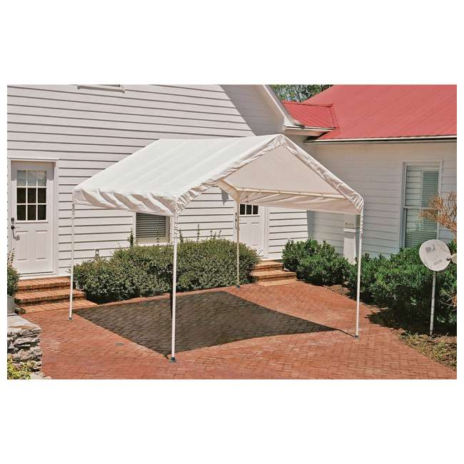 23521 ShelterLogic 10 x 10 Feet Rip Resistant Max AP Canopy with Twist Tie Tension 1