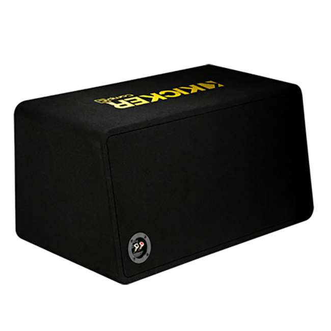 44DCWC122 + AR1500M + 4GAMPKIT-SFLEX Kicker 44DCWC122 12-Inch 1200W Subwoofer Enclosure with Mono Amplifier Amp 3