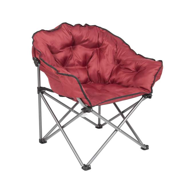 CHAIR-RED-ZS0063 Mac Sports Portable Folding Padded Club Chair, Wine Red