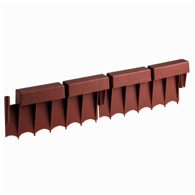 10 x BBE10TC Suncast 10' Interlocking Brick Resin Border Edging, 12 Inch Sections (10 Pack) 5