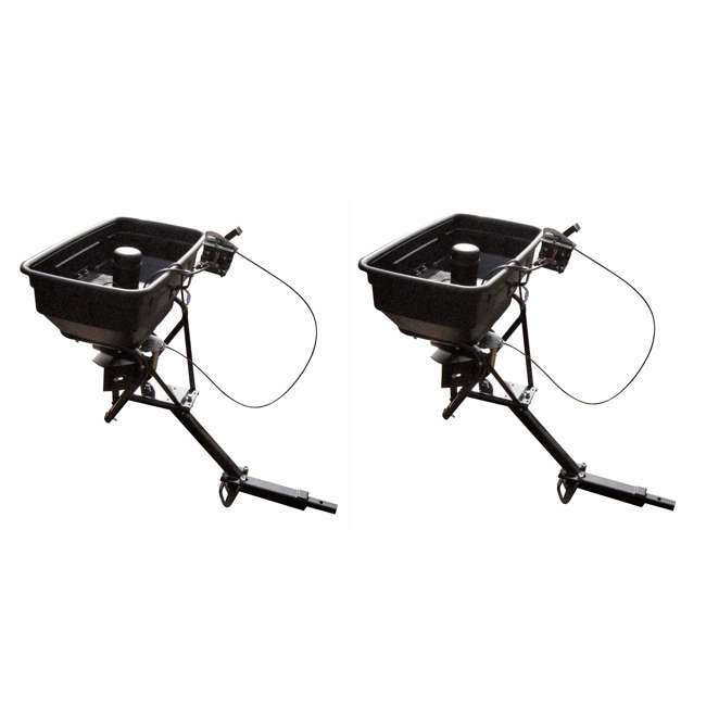 FIELD-AS-125ATV12 Field Tuff 12V ATV Hitch-Mount Grass, Seed, and Fertilizer Spreader (2 Pack)