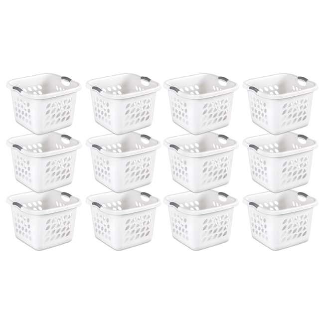 12 x 12178006 Sterilite 12178006 Ultra Square Laundry Basket with Titanium Inserts (12 Pack)