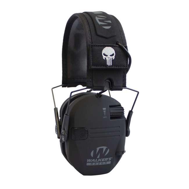 GWP-RSEMPAT-PUN Walker's Razor Slim Folding Protection Electronic Shooting Ear Muffs, Punisher
