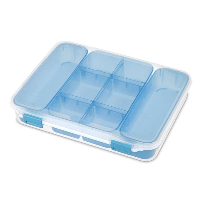 12 x 14028606-U-A Sterilite Divided Storage Case for Crafting and Hardware (6 Pack) (Open Box)