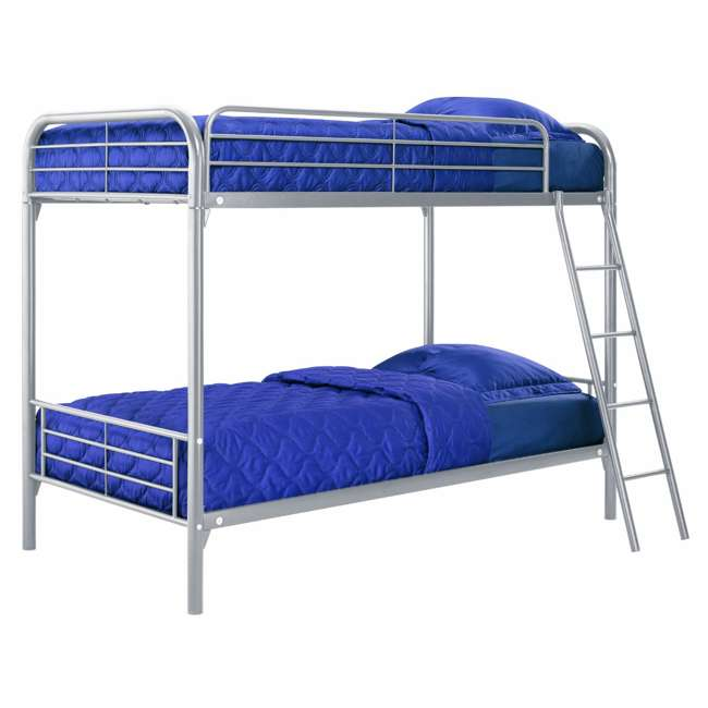 Dorel twin over twin metal bunk bed frame 5417096 for Twin bed frame clearance
