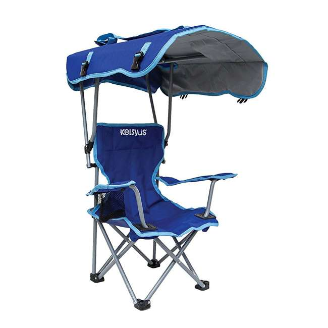 Kelsyus Kids Original Canopy Folding Backpack Chair 2 Pack Blue
