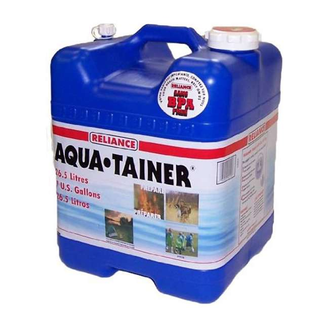 4 x 9410-24 Reliance Products Aqua Tainer 7 Gallon Drinking Water Storage Container (4 Pack) 1