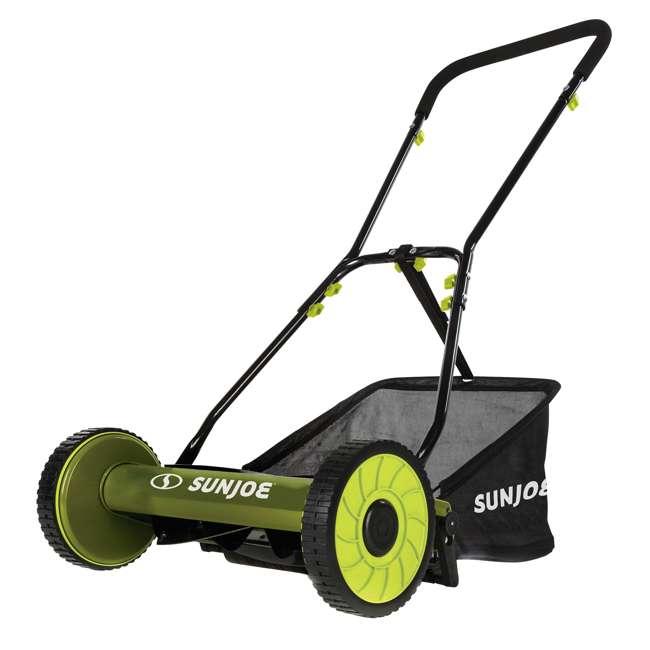 SUJ-MJ500M Sun Joe SUJ-MJ500M 16 Inch 4 Position Manual Reel Mower with Grass Catcher