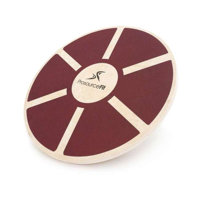 ps-1088-wbb-red Prosource Fit 1088 Round Wooden Gym Exercise Fitness Balance Wobble Board, Red 1