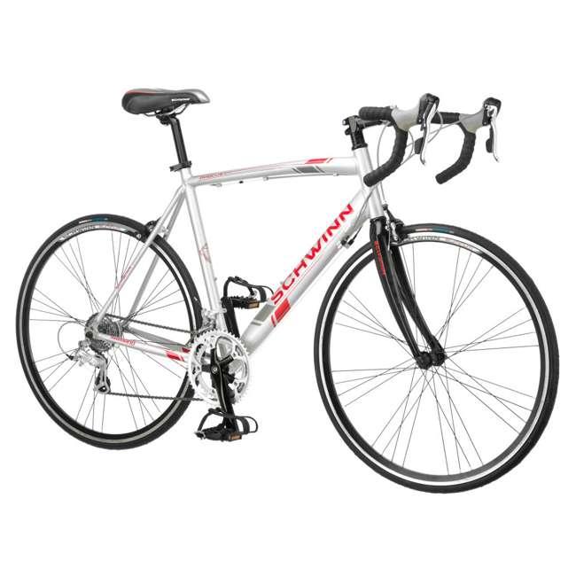 S5491 + 103DN-R Schwinn 700C Phocus 1600 Womens Drop Bar Road Bicycle & 3 Bike Car Trunk Rack 1