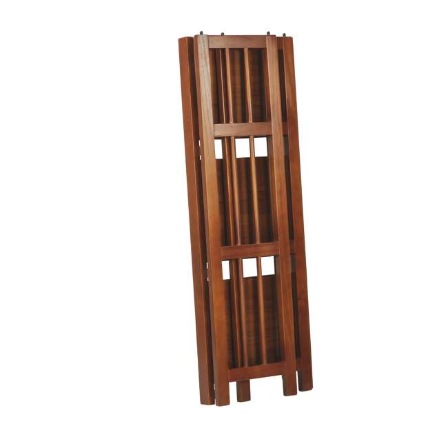 331-39 Casual Home 3 Shelf 14 Inch Folding Office Furniture Wood Bookcase, Mahogany  3
