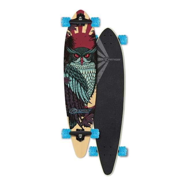 "T8-3022 + 08057-SHARK Triple 8 Dual Certified Skate & Bike Helmet S/M, Blue + Fathom Shark Wheel Pintail 39"" Longboard 7"