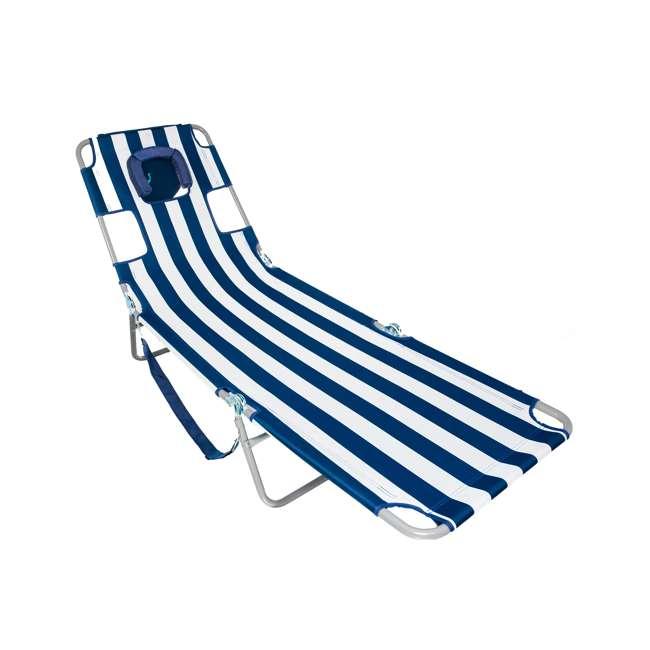 4 x CHS-1002S Ostrich Chaise Lounge Folding Portable Sunbathing Beach Chair (4 Pack) 1