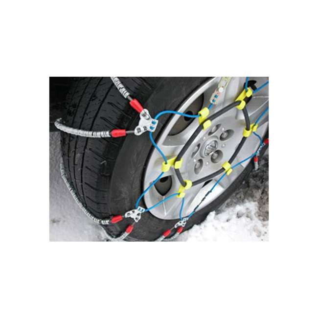 SZ441-U-A Super Z 6 Compact Cable Tire Snow Chain Set for Cars, Trucks, & SUVs (Open Box) 2