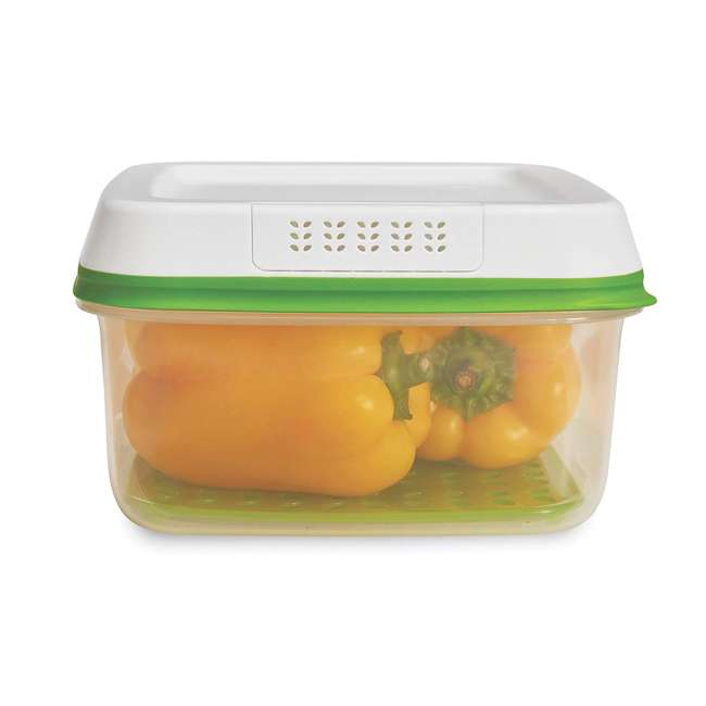 1996984 Rubbermaid FreshWorks Large Square Produce Saver Storage Container, 11.1 Cups 1
