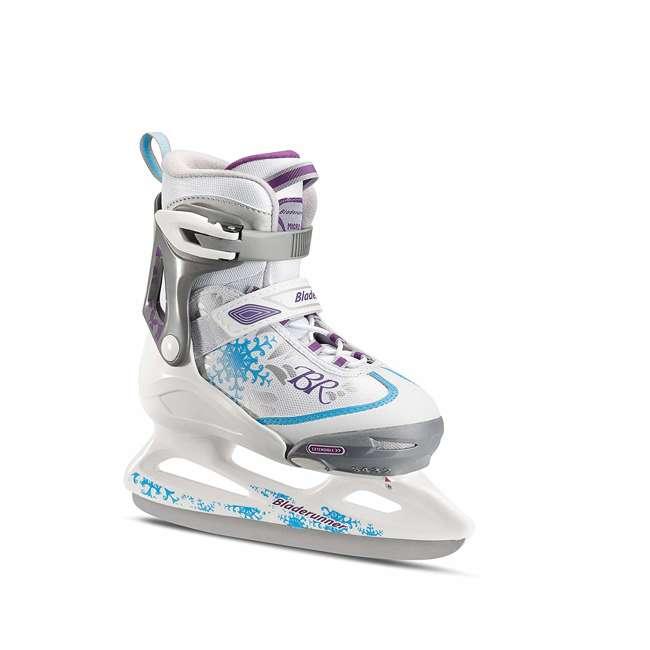 0G144500T1A-M Rollerblade Bladerunner Micro Ice G Girls Adjustable Skates, Medium, White/Blue