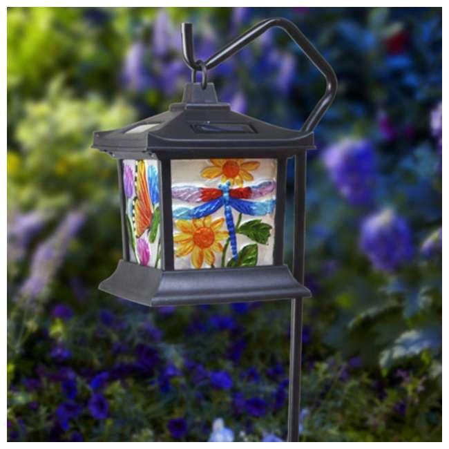 MR-92276 Moonrays Solar Powered LED Garden Outdoor Metal Stake Light 2