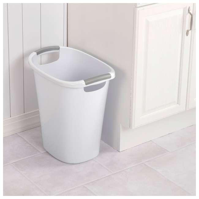 6 x 10638006 Sterilite 6 Gallon White Ultra Wastebasket Trash Can, 6 Pack  4