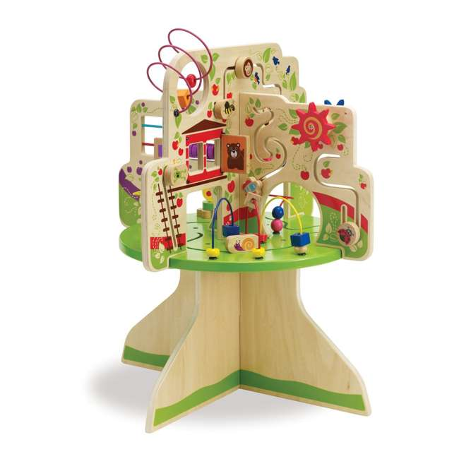 212280 Manhattan Toy Company Wood Tree Top Adventure Activity Play Center for Toddlers