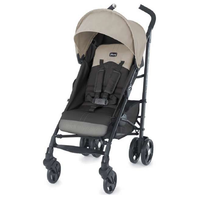 CHI-0707974561-U-A Chicco Liteway Compact Stroller w/ 3D Fold for Easy Transport, Almond (Open Box)