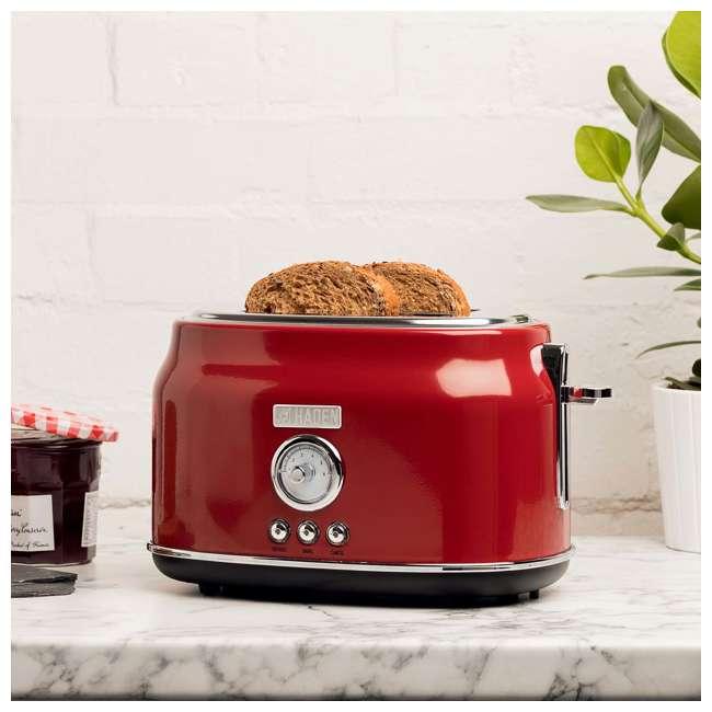 75001 Haden Dorset 2-Slice Wide Slot Stainless Steel Countertop Retro Toaster, Red 4